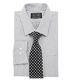 Alexander Julian® Long Sleeve Dress Shirt And Tie Set
