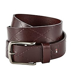 Tommy Hilfiger® Embossed Leather Belt