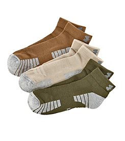 Under Armour® Men's 3-Pack Heatgear No-Show Socks