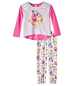 Shopkins Girls' 4-10 2 Piece Shoppies Let's Party Pajama Set