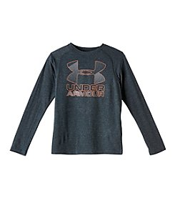Under Armour® Boys' 8-20 Hybrid Big Logo Tee