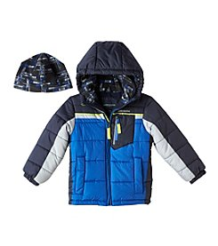 London Fog® Boys' 4-7 Long Sleeve Puffer Coat