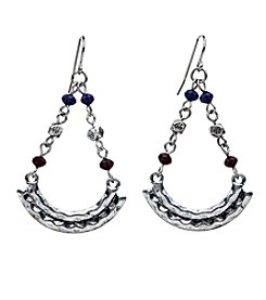 Ruff Hewn Crescent Chandelier Drop Earrings