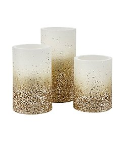 Order Home Collection 3-Piece Glitter LED Candle Set