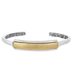 The Sak® Two-Tone Metal Inlay Cuff Bracelet