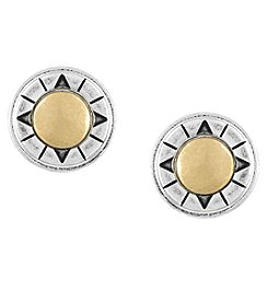 The Sak® Two-Tone Metal Inlay Stud Earrings