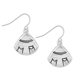 The Sak® Silvertone Etched Fan Drop Earrings