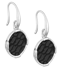The Sak® Silvertone Inlay Circle Drop Earrings