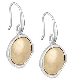 The Sak® Two-Tone Metal Inlay Circle Drop Earrings