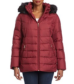 Calvin Klein Plus Size Hooded Quilted Jacket