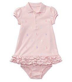 Ralph Lauren® Baby Girls' Ruffle Dress And Bloomers