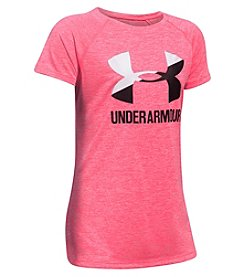 Under Armour® Girls' 4-6X Short Sleeve Novelty Big Logo Tee