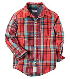 Carter's® Baby Boys' Long sleeve Woven Plaid Shirt