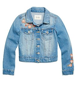 Jessica Simpson Girls' 7-16 Pixie Denim Embroidered Jacket