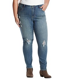 Ruff Hewn Plus Size Rip And Repair Skinny Jeans