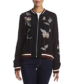 Chelsea & Theodore® Embroidered Bomber Jacket