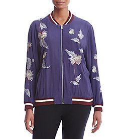 Chelsea & Theodore® Plus Size Embroidered Bomber Jacket