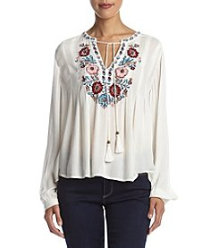 Vintage America Blues™ Julia Embroidered Peasant Top