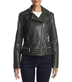 Bernardo® Moto Fine Grain Faux Leather Jacket