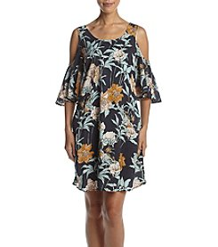 Cupio Floral Cold Shoulder Dress