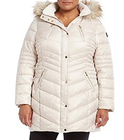 Laundry® Plus Size Ruched Waist Down Jacket