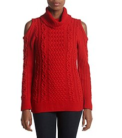 Ruff Hewn Turtleneck Cable Knit Sweater