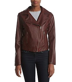 Ruff Hewn Faux Leather Moto Jacket