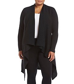 Ruff Hewn GREY Plus Size Lurex Open Cardigan