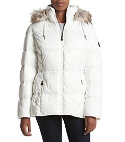 Laundry® Faux Fur Hood Puffer Coat