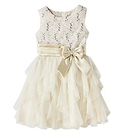 Rare Editions Girls' 7-16 Lace Bodice Dress