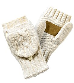 Isotoner Signature® Chunky Cable Knit Flip Mitten