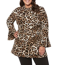 Rafaella® Plus Size Cheetah Print Tunic