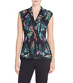 Catherine Malandrino® Printed Pleated Top