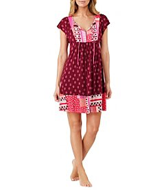 Ellen Tracy Short Sleeve Tunic Nightgown