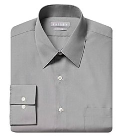 Van Heusen® Solid Long Sleeve Fitted Poplin Dress Shirt