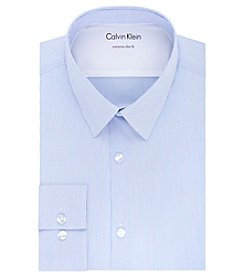 CK X Stretch Slim Fit All Season Thermal Spread Collar Striped Dress Shirt