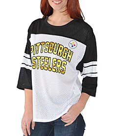 G III NFL® Pittsburgh Steelers Women's First Team Mesh Shirt