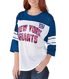 G III NFL® New York Giants Women's First Team Mesh Shirt