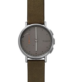 Skagen® Signatur Connected Leather Hybrid Smartwatch