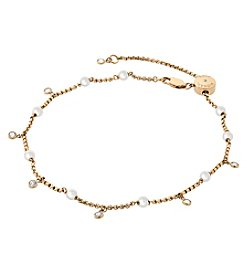 Michael Kors® Goldtone and Pearl Anklet