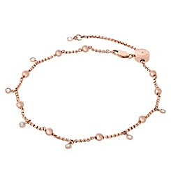 Michael Kors® Rose Goldtone and Pink Pearl Anklet