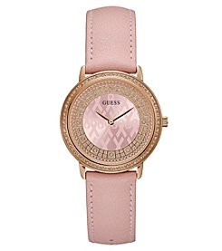 GUESS Rose Goldtone Breast Cancer Watch
