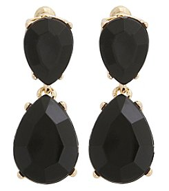 Erica Lyons® Goldtone Faceted Stone Drop Earrings