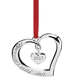 Lenox® 2017 Our First Christmas Ornament