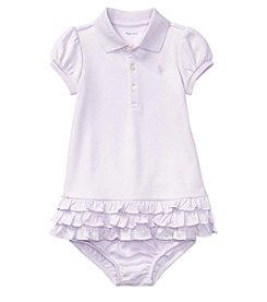 Ralph Lauren® Baby Girls' 3-24 Months Ruffled Dress With Bloomers