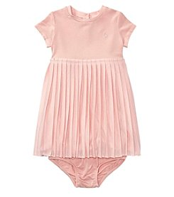 Ralph Lauren® Baby Girls' 3-24 Months Pleated Dress With Bloomers