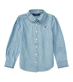 Polo Ralph Lauren® Girls' 2T-16 Long Sleeve Chambray Shirt