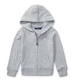 Polo Ralph Lauren® Girls' 2T-16 Long Sleeve Zip Hoodie