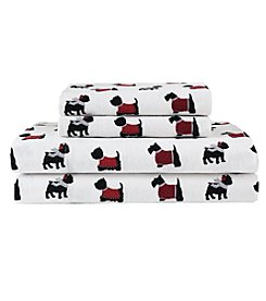 Elite Home Products Winter Nights Cotton Flannel Sheet Set
