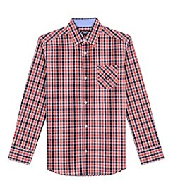 Chaps® Boys' 8-20 Long Sleeve Plaid Woven Shirt